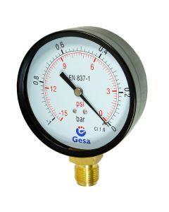 Wakuometr 100mm  -1 do 0 bar  1/2″