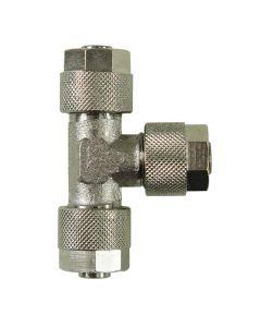 Trójnik metalowy skręcany 6 x 4 mm