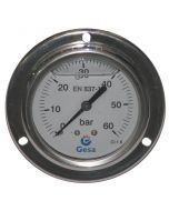 Manometr tablicowy z gliceryną 63mm, 60 BAR MAGF-063-0015G
