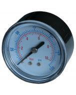 Manometr 50mm, 10 BAR, Tylny 1/4″
