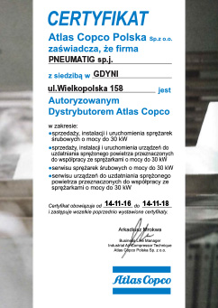 Pneumatig - autoryzowany partner Atlas Copco