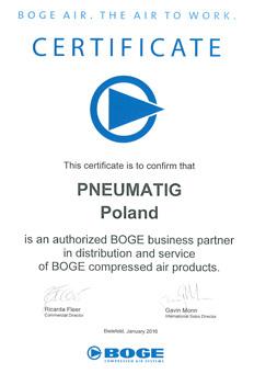 Pneumatig - certyfikowany partner BOGE