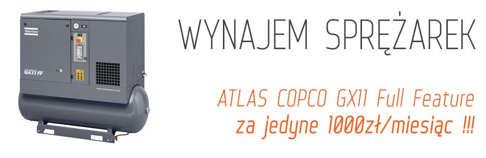 Wynajmij sprężarkę Atlas Copco!